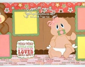 Scrapbook Page Kit Twinkle Little Star Baby Girl 2 page Scrapbook Layout 029