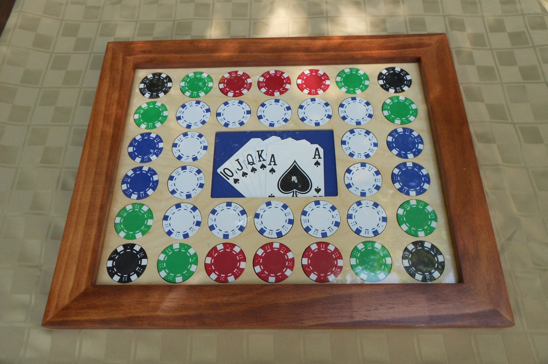 Casino chip frame