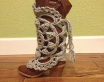 Crochet boot covers