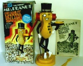 Vintage Mr Peanut Peanut Butter Maker with Original Box and Utensils 1960s As Seen On TV