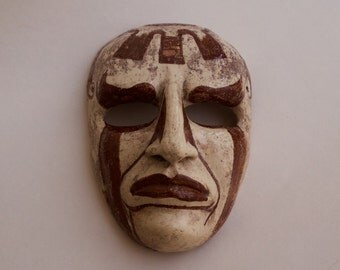 Art sculpture - ceramic handmade mask.