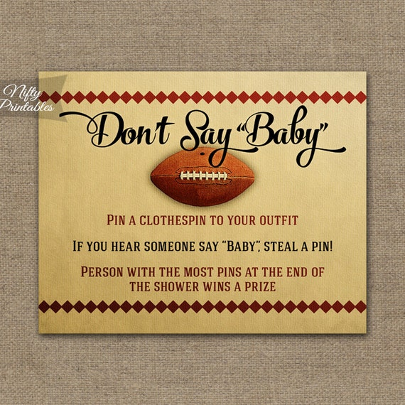 baby game football baby shower decorations printable football baby