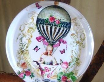 Steampunk Cabochon,Balloon Cabochon,Frech Cabochon,Lady Cabochon