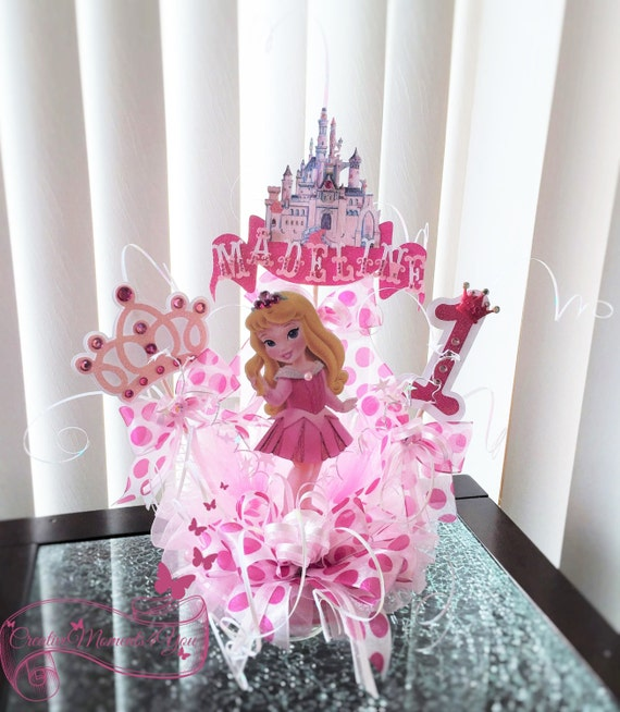 Disney Toddler Princess Aurora Sleeping Beauty Birthday Cake Topper