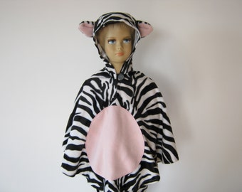 zebra halloween / carnival costume cape for toddlers
