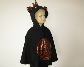 firebellydragon halloween carnival costume cape for toddlers black