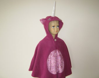 unicorn costume halloween carnival cape for toddlers pink