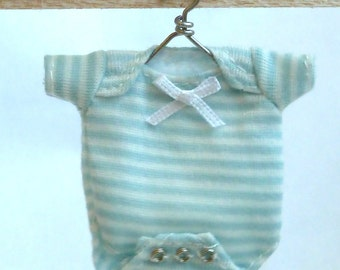 onesie, pink or blue for baby dollhouse miniature 1/12 scale