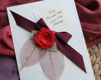 Birthday Card Boyfriend, Personalised, Handmade, 21st Birthday Card, 30th Birthday Card, 40th Birthday Card, Card for Him, Fiance, Husband