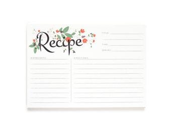 Botanical Recipe Cards