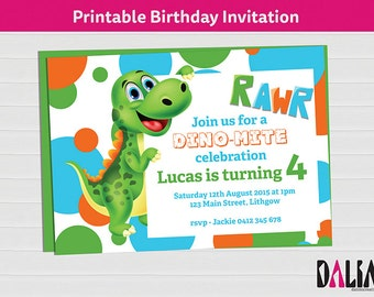 5 x 7 inch RAWR Dinosaur Invitation - Dinosaur Birthday Invitation - Dinosaur Party - Dinosaur Invitation - Printable Invitation!