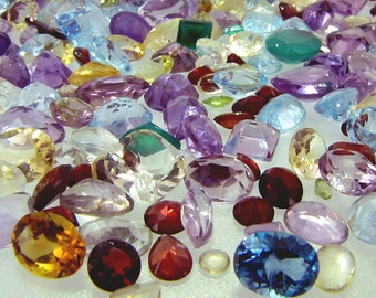 50 carat mixed gemstone lot amethyst, ruby, citrine,quatrz, peridot and MORE GREAT Deal