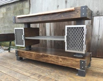 HOME: Rustic Industrial Wine Bar/Buffet Table