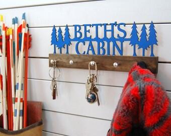Woodland Cabin Personalized Key Holder