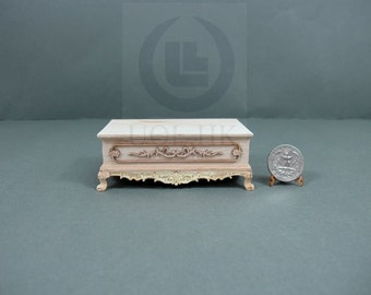 """Miniature 1:12 Scale The """"Adalicia"""" Ottoman For Dollhouse [Unpainted/Unfinished]"""