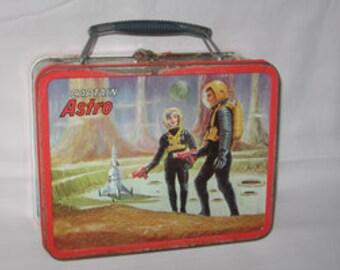 vintage 1966 ohio art captain astro metal lunchbox