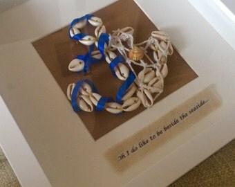 Handmade 3D wall art nautical anchor