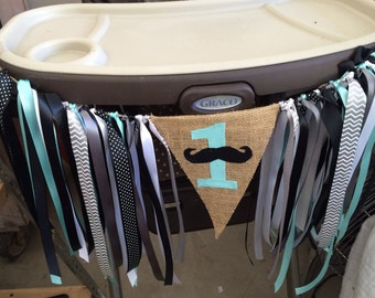 First Birthday Sign, Sign for High Chair, Banner for High Chair, Mustache First Birthday, Mustache Banner, High Chair Banner