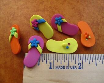 flip flop buttons, lot of plastic flip flop buttons