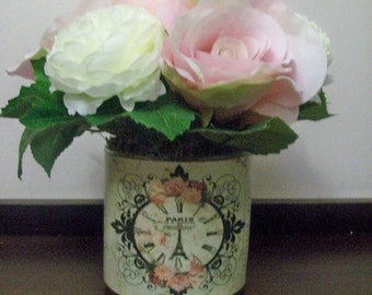French Inspired Vase of Flowers
