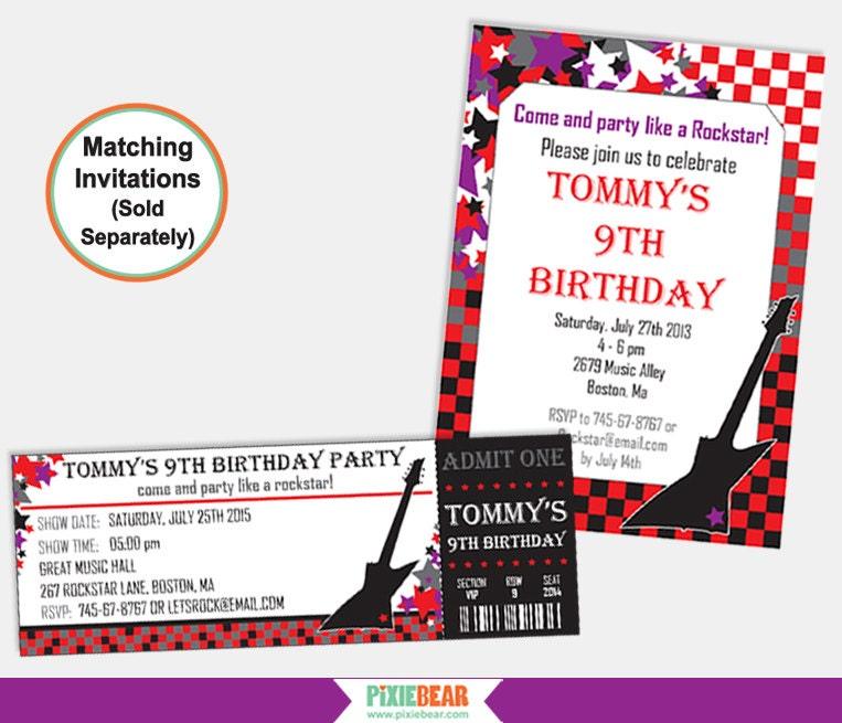 Rock Star Birthday - Rockstar Party - Rockstar Birthday ...