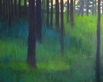 Forest Painting Etsy