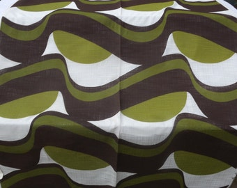 Vintage Funky SCREEN PRINTED Fabric - Original 1960s