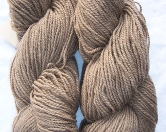 Fawn Brown- DK weight-Border Leicester yarn-100% wool
