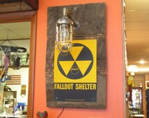 Vintage Explosion Proof Fallout Shelter Light, Steampunk