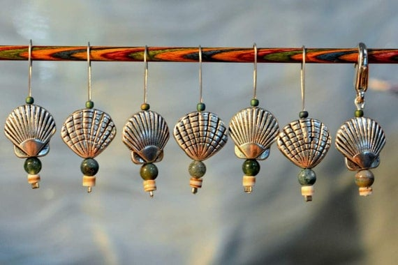 She Sells Sea Shells Knitting Stitch Markers