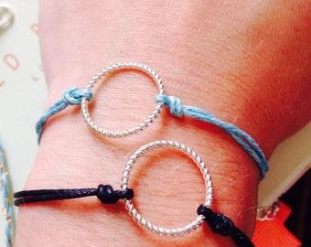 Circle Karma Cord Friendship Bracelet