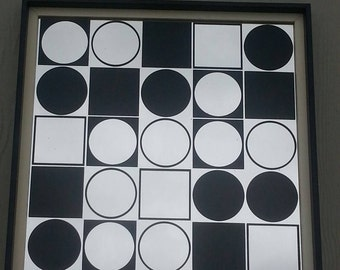 Mirrored Op Art Piece