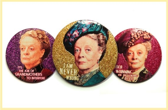 Refrigerator Magnet Godmother Godparent Quote Pink: Downton Abbey Gift Glitter Fridge Magnets Downton Abbey