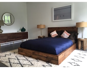 Hamptons platform Bed