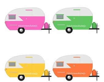 camper clip art on Etsy, a global handmade and vintage ...