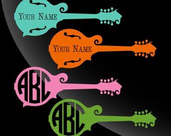 Mandolin Monogram Decal Sticker