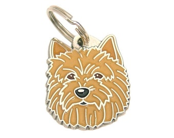 Pet tags MjavHov engraved Norwich terrier