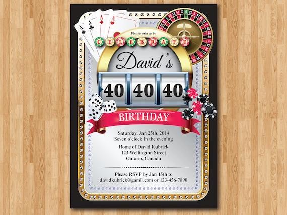 Famoso Tema dell'invito di compleanno di Poker del casinò. Tema WF96