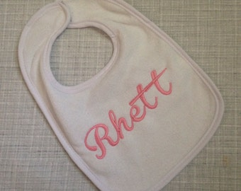 Personalized baby gift - Embroidered bib and burp cloth set - Monogrammed Baby Gift - Monogrammed Baby Shower