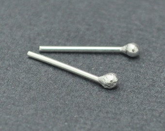 Ball studs, Sterling Silver, Dot studs, Earrings, Handmade, 20 Gauge
