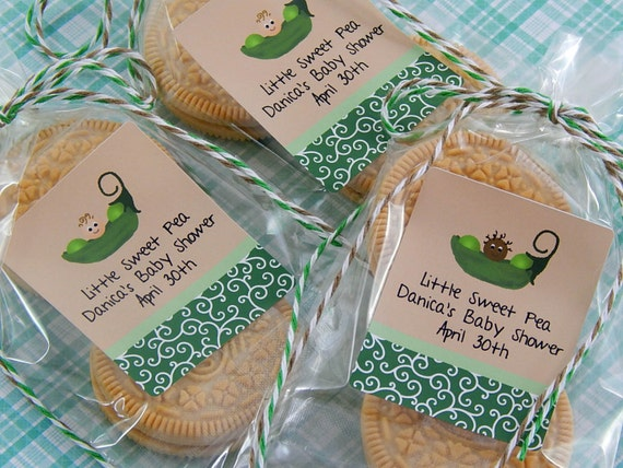 baby shower party favors two peas in a pod baby shower cookie