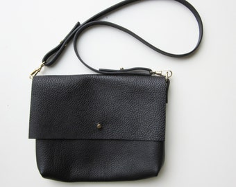 woman bag leather bag black shoulder bag leather