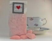 Handmade Pink Sugar Hearts - 12