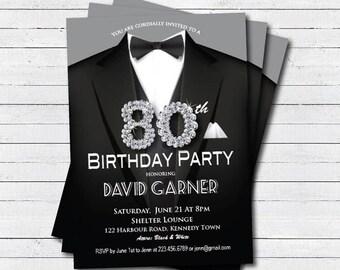Casino 30th birthday invitation. Adult man birthday by ...