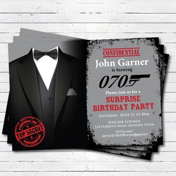Surprise anniversaire fête invitation. 40e 50e 70e 60e