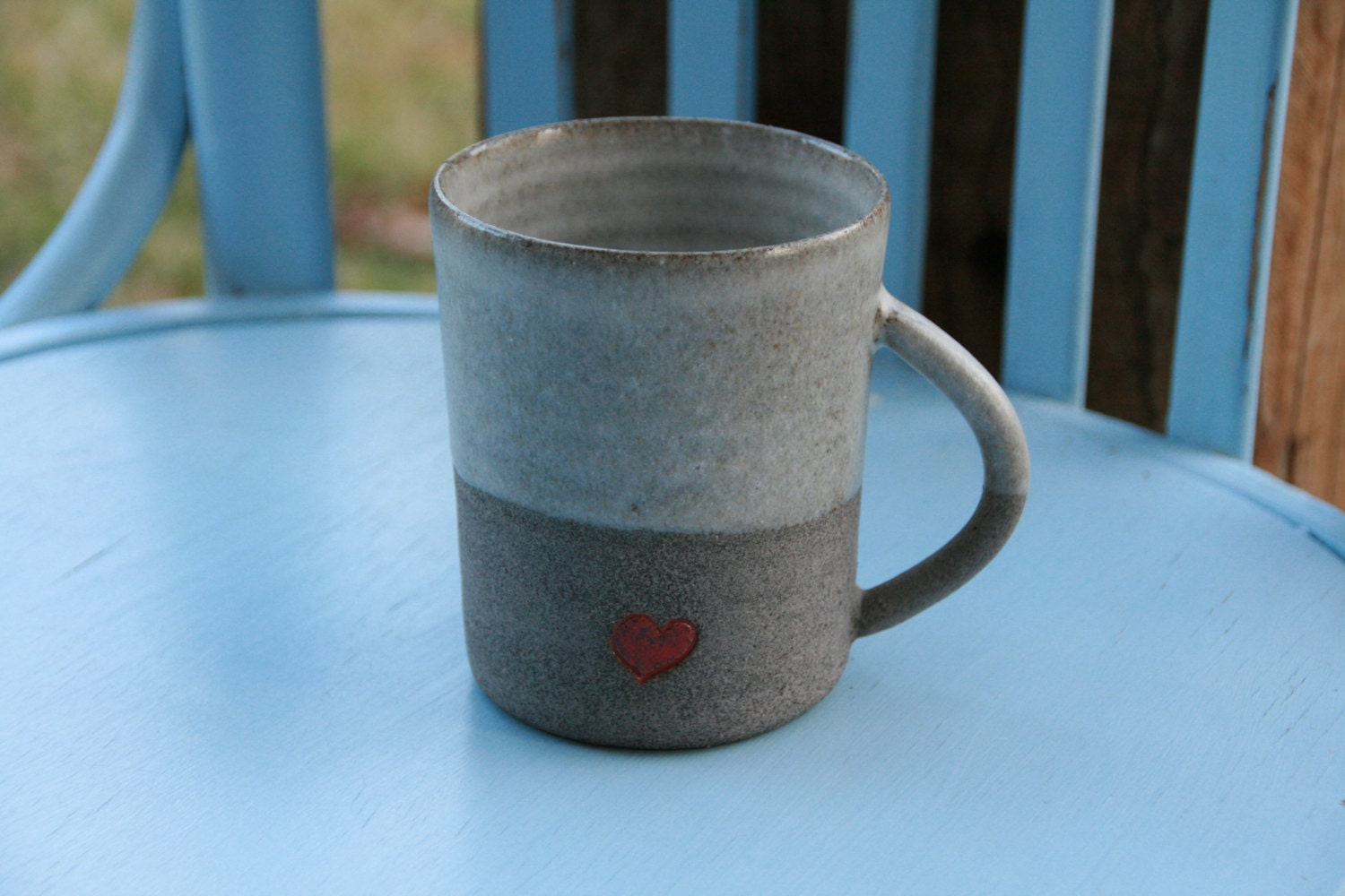 Coffee Mug Clay Coffee Mug Pottery Coffee Mug With A Red