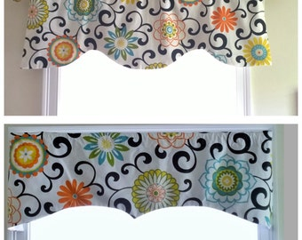 Window Valance, kitchen valance, custom valance, waverly valance, curtains,tie up valance
