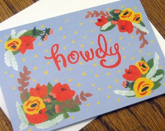 Howdy - blank greeting card