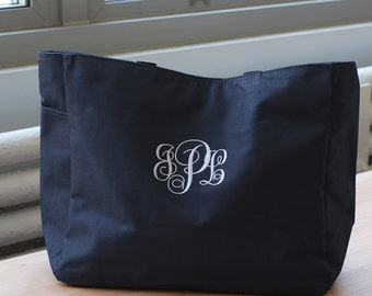 Monogram Tote Bag, Bridesmaid Tote, Monogrammed tote bag weekend Bag, Bridal party gift bag, personalized tote, monogram bridesmaid gifts