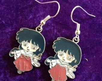 Inuyasha kikyo anime / manga Charm Earrings